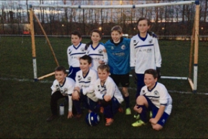 The team celebrating their 4-0 victory against Dawley Church of England school on Wednesday Well done everyone !! Thank you to Mr Gaymer and the parents who took the children there.