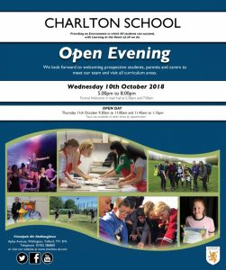 Charlton open day poster sept 2018