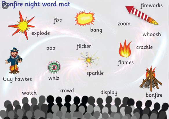 bonfire night word mat