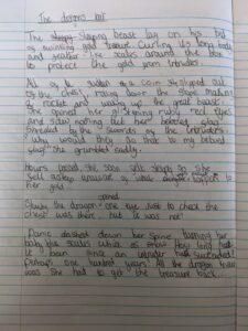 Izzy writing 1