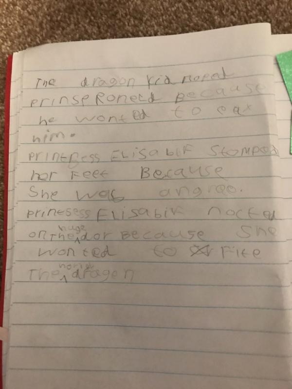 Lola writing