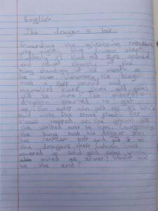 Olivia writing